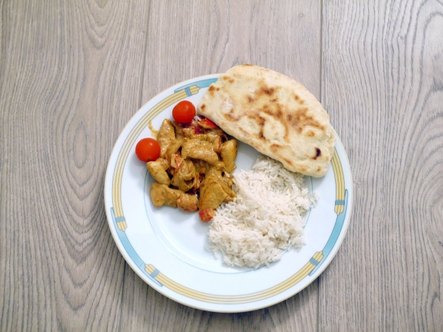 Poulet au curry expresss